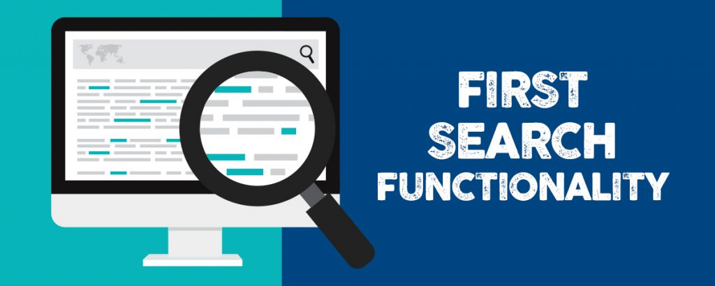 First Search Functionality