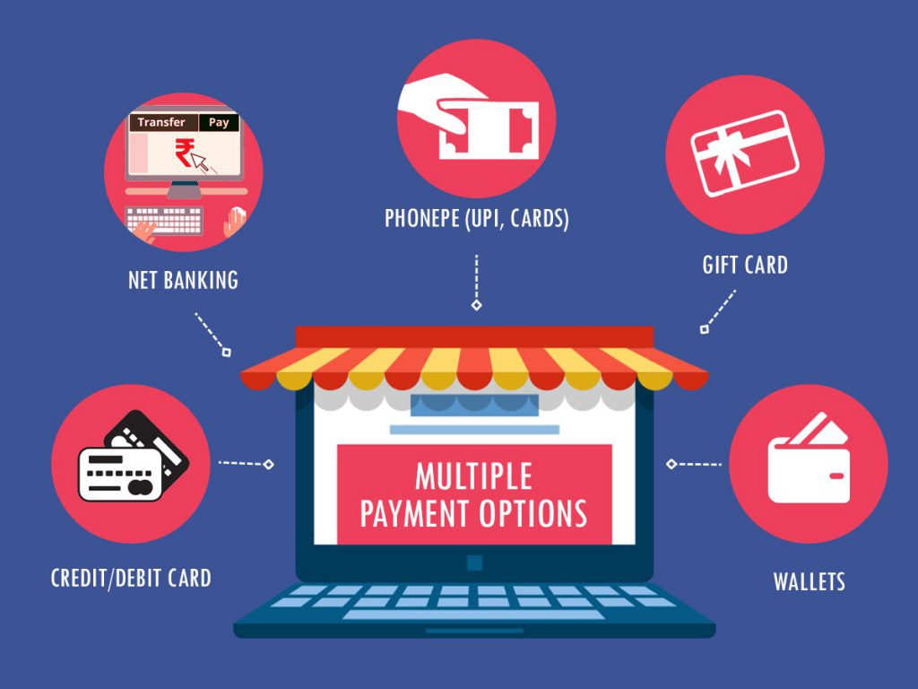 Multiple payment options
