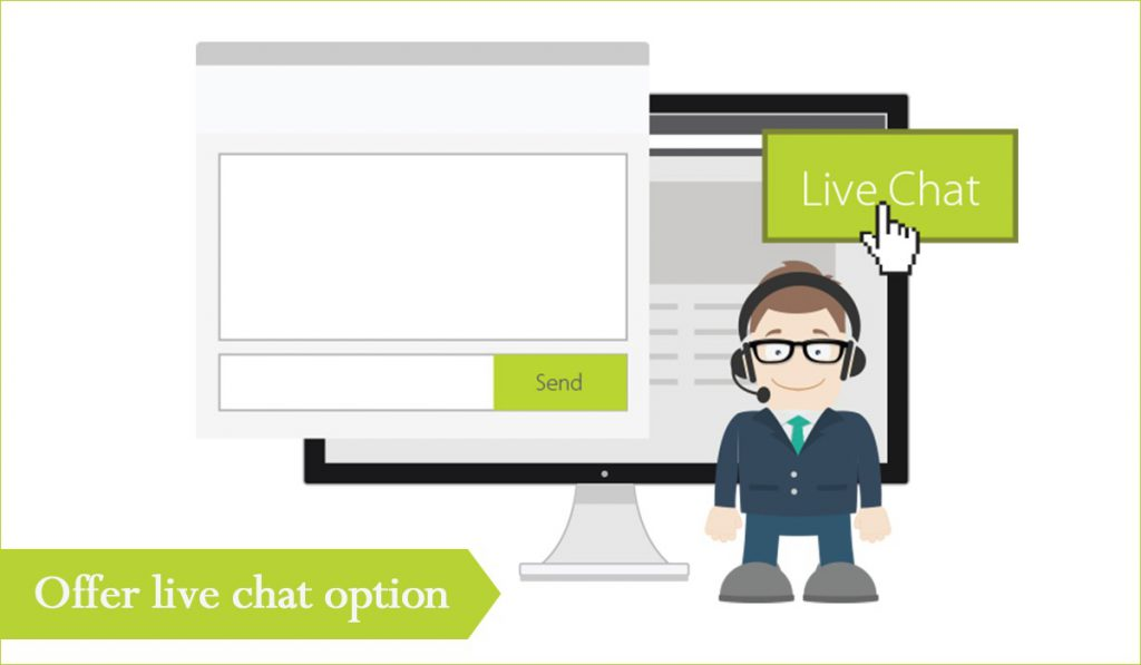Offer live chat option