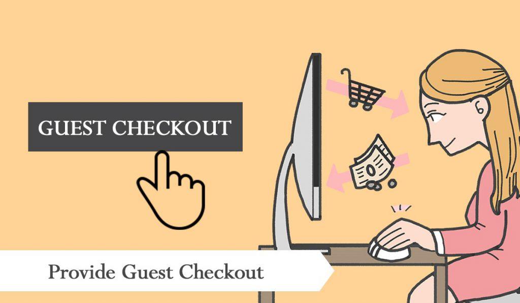 Provide guest checkout