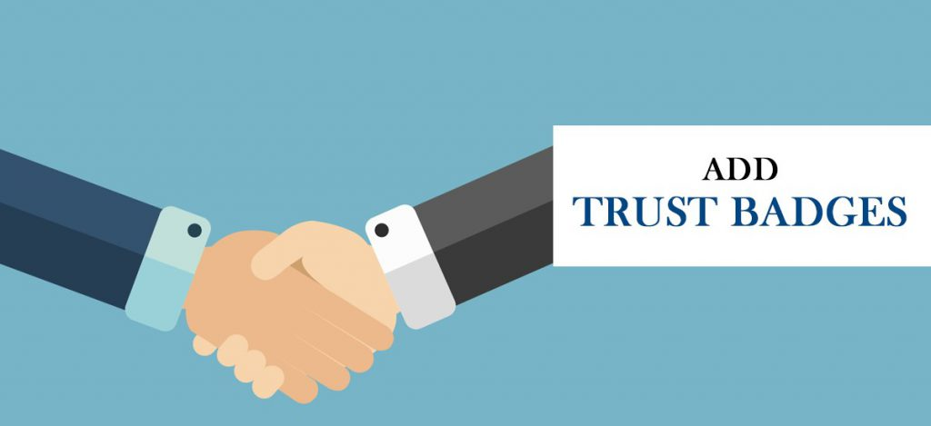 Add trust badges