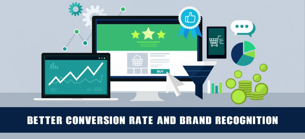 Better conversion rate and brand recognition
