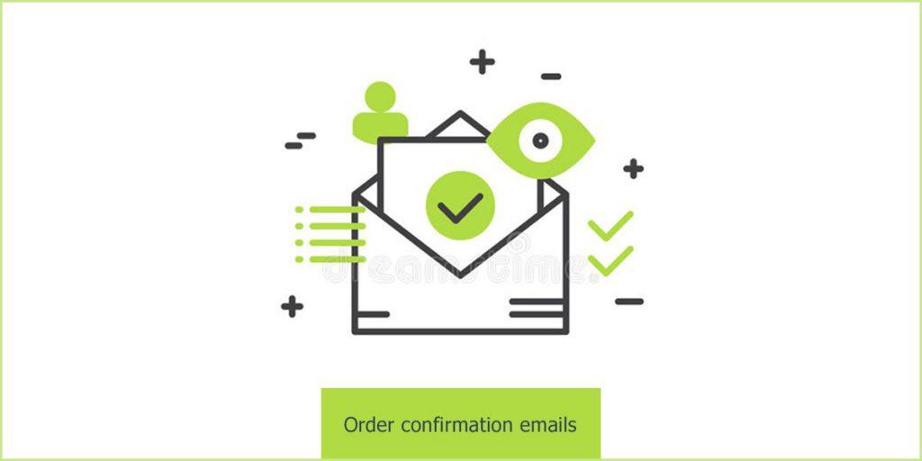 Order confirmation emails