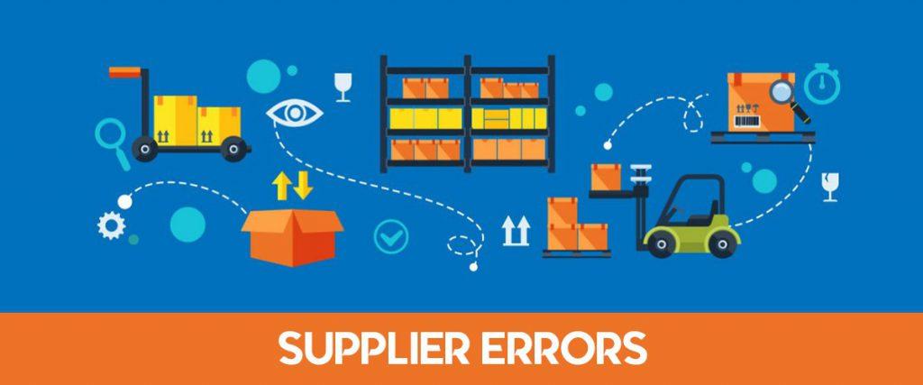 Supplier errors