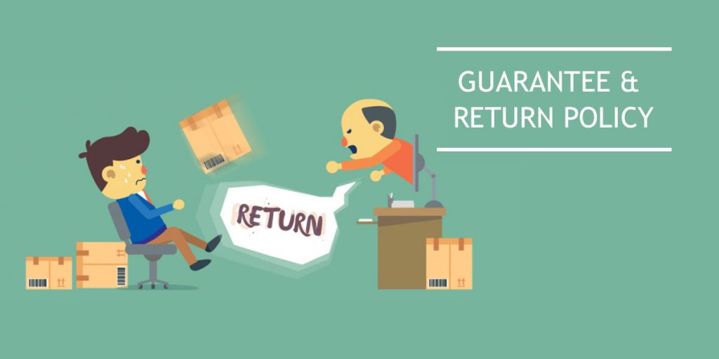 Guarantee and return policy