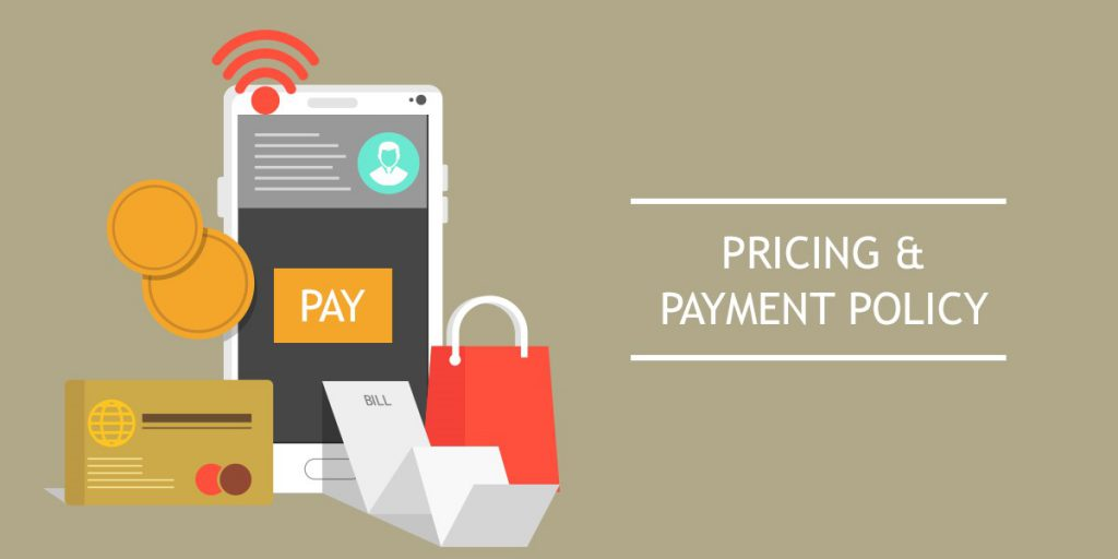 Pricing and payment policy